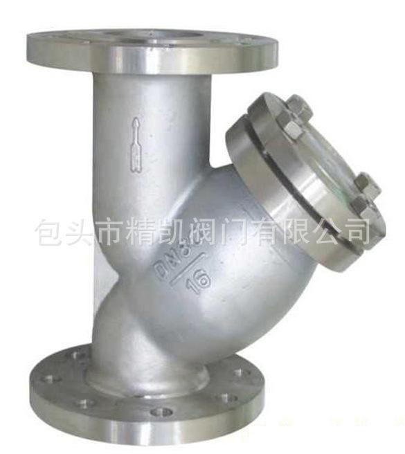 化工锅炉管道配套betway88必威客户端 GL41W不锈钢法兰Y型过滤器 除污器 排污阀