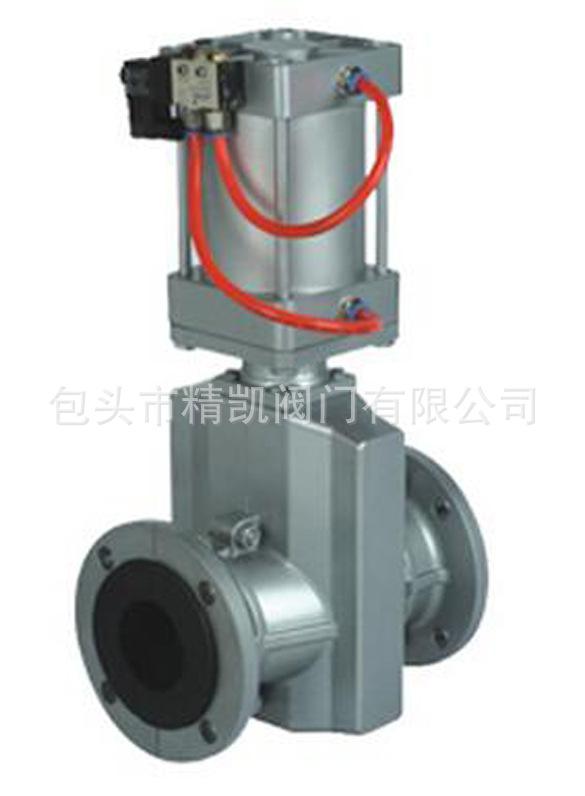 厂家低价内蒙包头直销 GJ641X铝合金气动法兰式管夹阀 夹管阀