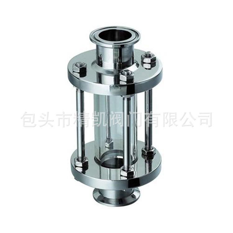 厂家直供不锈钢快装玻璃管食品视盅 快装视镜阀