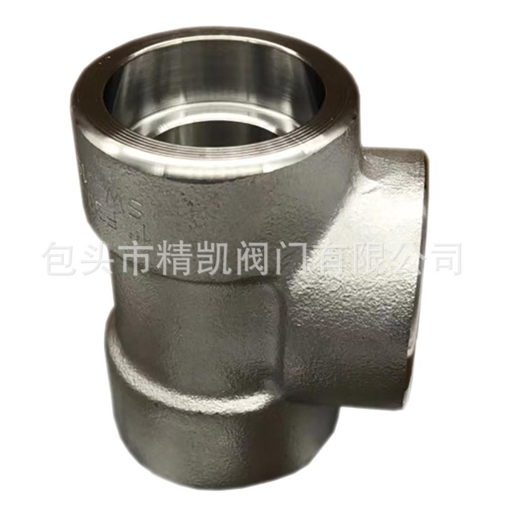 石油燃气工程施工管道材料 锻造高压承插焊接丝扣三通 高压弯头